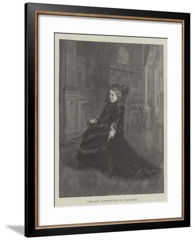 The Late Marchioness of Salisbury--Framed Art Print