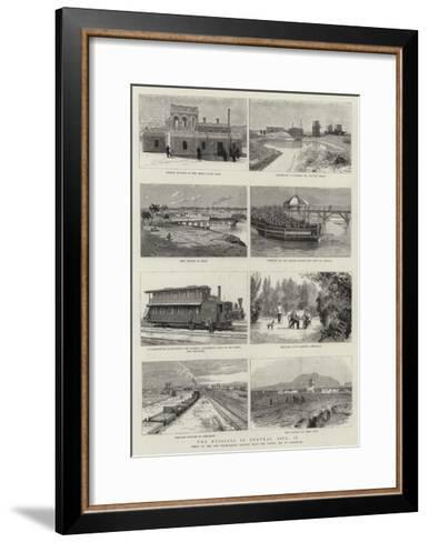 The Russians in Central Asia, II--Framed Art Print