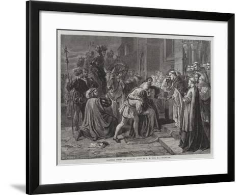 Cardinal Wolsey at Leicester Abbey--Framed Art Print