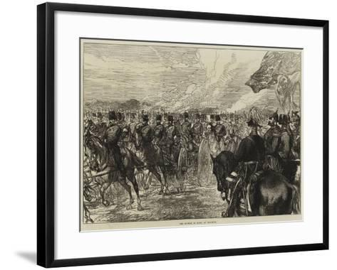 The Emperor of Russia at Woolwich--Framed Art Print