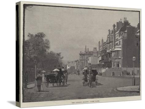 The London Season, Park Lane--Stretched Canvas Print