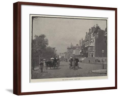 The London Season, Park Lane--Framed Art Print