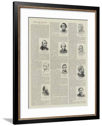 Dickens and His Artist Friends--Framed Art Print