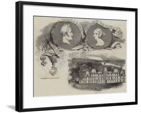 Her Majesty's Visit to France--Framed Art Print