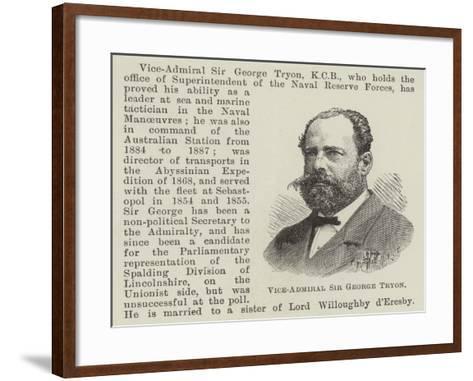 Vice-Admiral Sir George Tryon--Framed Art Print