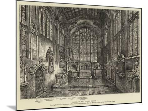 Chancel of Holy Trinity Church--Mounted Giclee Print