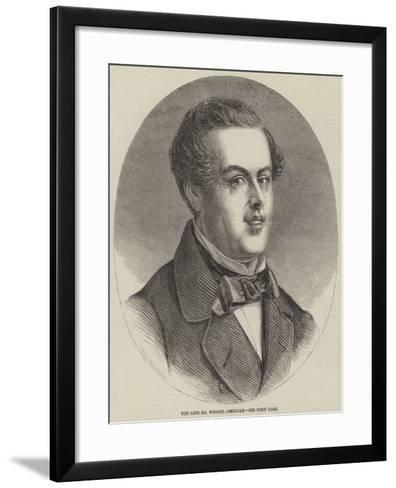 The Late Mr Wright, Comedian--Framed Art Print