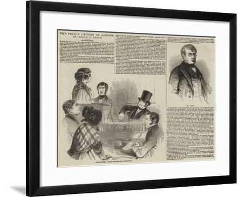 The Police Offices of London--Framed Art Print