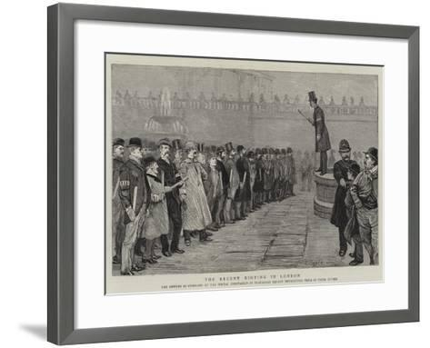 The Recent Rioting in London--Framed Art Print