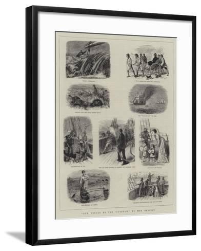 Our Voyage in the 'Sunbeam'--Framed Art Print