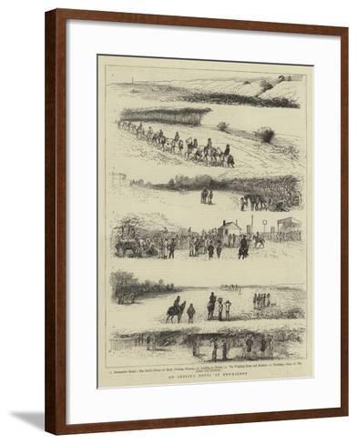 An Artist's Notes at Newmarket--Framed Art Print