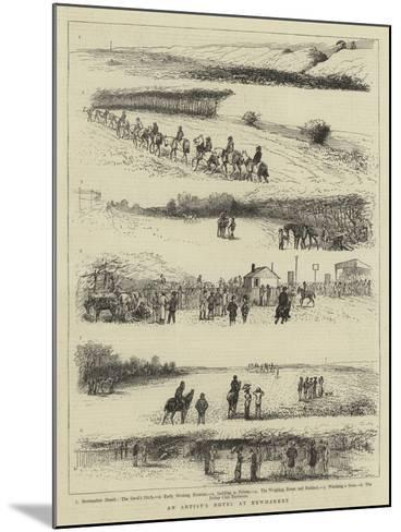An Artist's Notes at Newmarket--Mounted Giclee Print