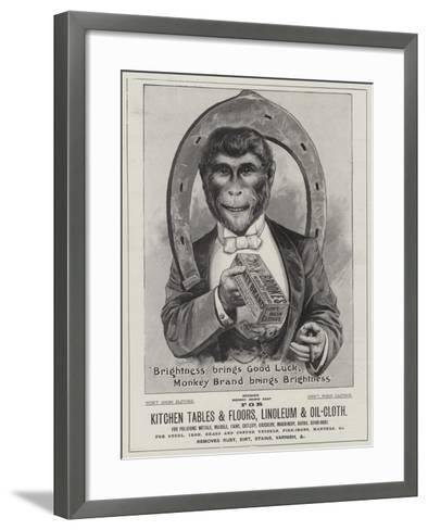 Advertisement, Brooke's Soap--Framed Art Print