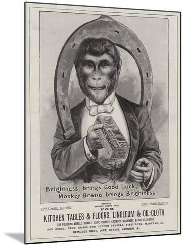 Advertisement, Brooke's Soap--Mounted Giclee Print
