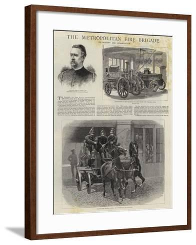The Metropolitan Fire Brigade--Framed Art Print