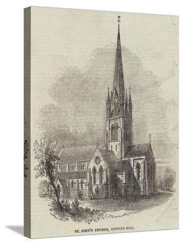 St John's Church, Notting Hill--Stretched Canvas Print
