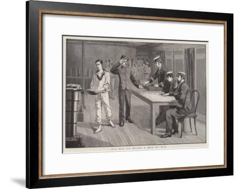 Pay Day on Board a Man of War--Framed Art Print