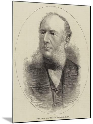 The Late Sir William Siemens--Mounted Giclee Print