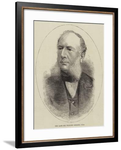 The Late Sir William Siemens--Framed Art Print