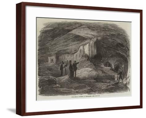 The Royal Caverns at Jerusalem--Framed Art Print