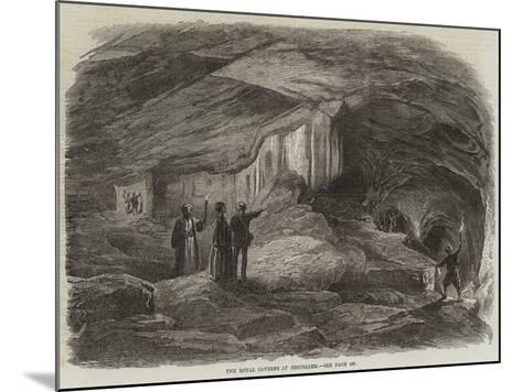 The Royal Caverns at Jerusalem--Mounted Giclee Print