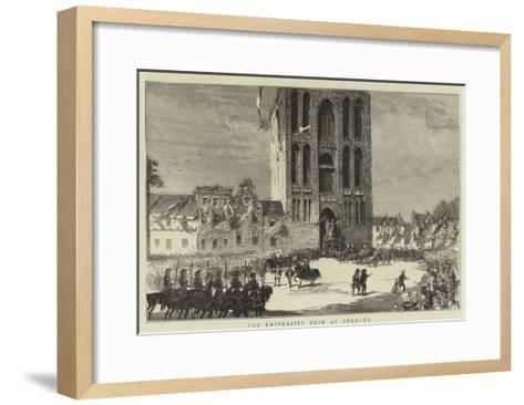 The University Fete at Utrecht--Framed Art Print