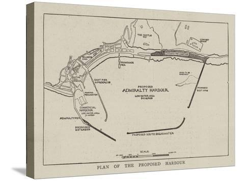 Plan of the Proposed Harbour--Stretched Canvas Print