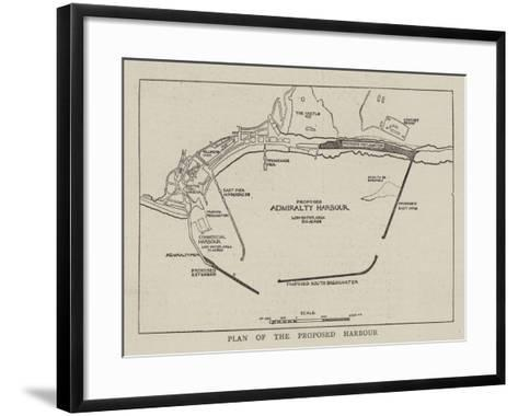 Plan of the Proposed Harbour--Framed Art Print
