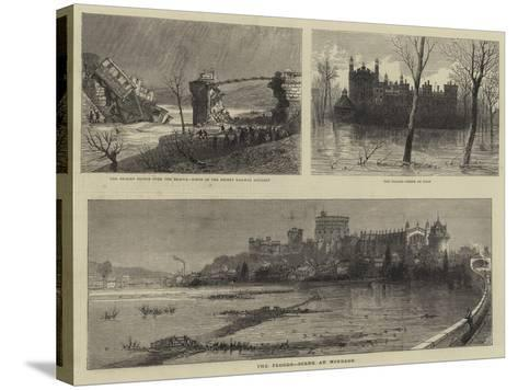 The Floods, Scene at Windsor--Stretched Canvas Print