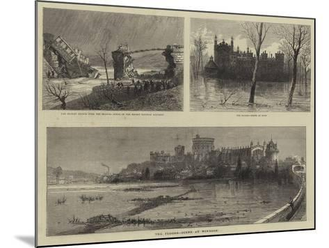 The Floods, Scene at Windsor--Mounted Giclee Print