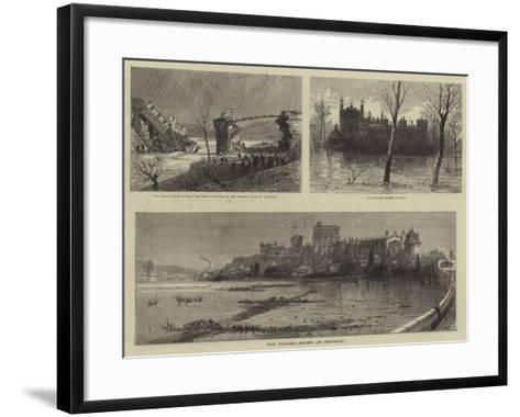 The Floods, Scene at Windsor--Framed Art Print