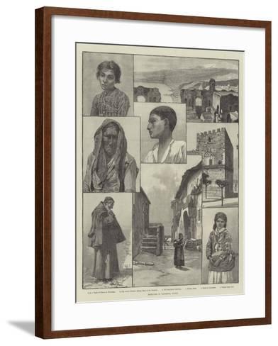 Sketches in Taormina, Sicily--Framed Art Print