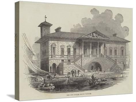 The New Custom House, Ipswich--Stretched Canvas Print