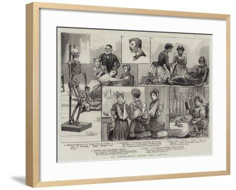 An Ambulance Class for Ladies--Framed Art Print