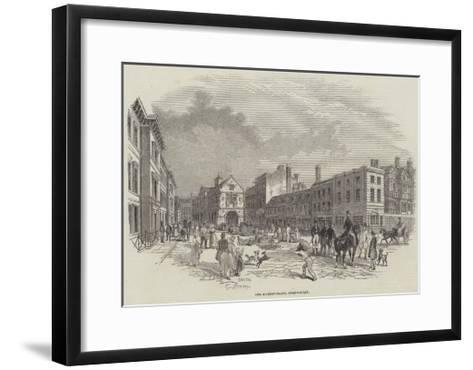 The Market-Place, Shrewsbury--Framed Art Print