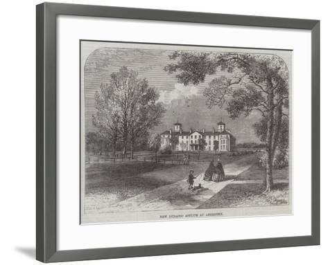 New Lunatic Asylum at Aberdeen--Framed Art Print
