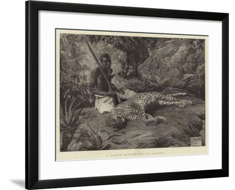 A Native Hunter and His Quarry--Framed Art Print