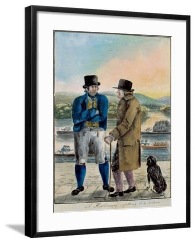 A Keelman Getting His Orders--Framed Art Print