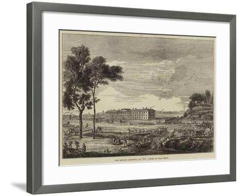 The London Hospital in 1753--Framed Art Print