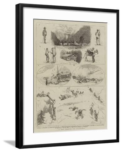 A Trip Through the Zillerthal--Framed Art Print
