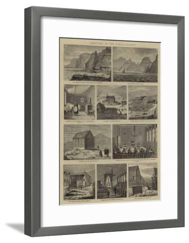 Sketches in the Faroe Islands--Framed Art Print