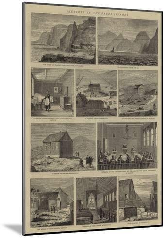 Sketches in the Faroe Islands--Mounted Giclee Print