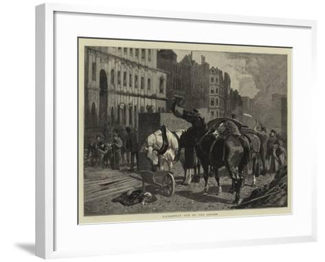 Piccadilly Out of the Season--Framed Art Print