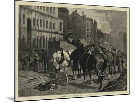 Piccadilly Out of the Season--Mounted Giclee Print