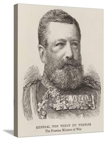 General Von Verdy Du Vernois--Stretched Canvas Print