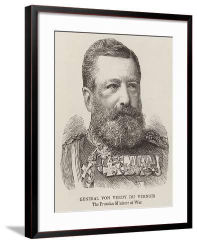 General Von Verdy Du Vernois--Framed Art Print