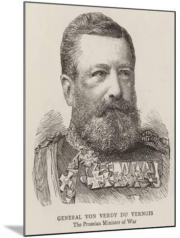 General Von Verdy Du Vernois--Mounted Giclee Print