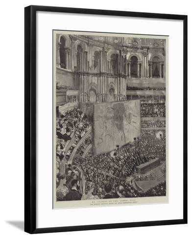 Mr Stanley at the Albert Hall--Framed Art Print