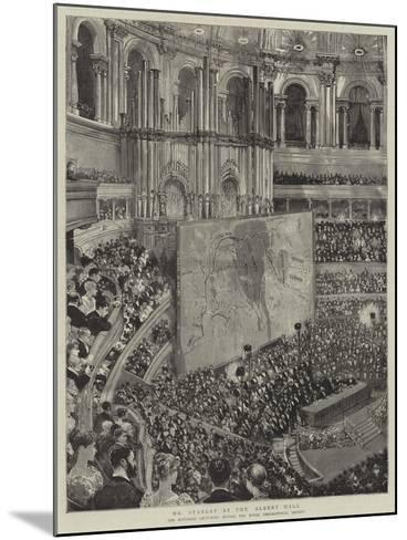 Mr Stanley at the Albert Hall--Mounted Giclee Print
