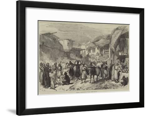 Street in the Bazaar at Cabul--Framed Art Print
